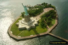 2019-11-10 New York. (142) On the way to Liberty Island. A helicopter view of Liberty Island taken in 1990 when your Host and Wife visited NY. 142