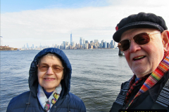 2019-11-10 New York. (179) Your Host & Wife in the same spot as the 1990  picture (176). We now have the new World Trade centre or 911.179