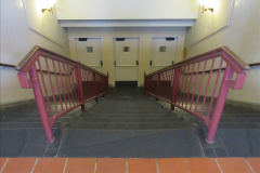 2019-11-10 New York. (233) Ellis Island and the imigrants. Left stairway for New York right stairway fot rest of USA and middle staiway rejected entry to the USA. 233