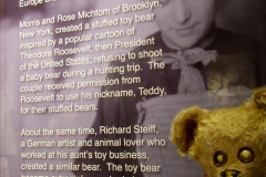 2019-11-10 New York. (256) Ellis Island and the imigrants. A bear that became Teddy after Theodore Roosevelt. 256