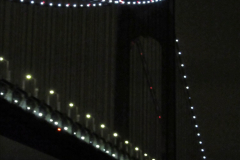 2019-11-10 New York. (7) New York arrival on Queen Mary. The Verrazzano-Narrows Bridge. 007