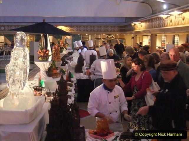 2012-05-13 to 20 Norway Cruise. On board towel folding. food & crew good bye.  (20)093