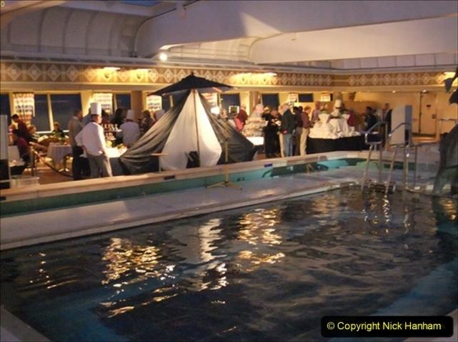 2012-05-13 to 20 Norway Cruise. On board towel folding. food & crew good bye.  (21)094