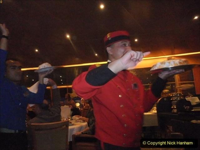 2012-05-13 to 20 Norway Cruise. On board towel folding. food & crew good bye.  (26)099