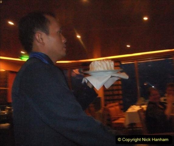 2012-05-13 to 20 Norway Cruise. On board towel folding. food & crew good bye.  (27)100