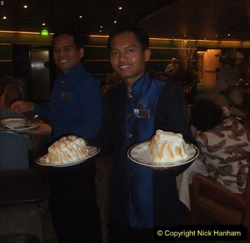 2012-05-13 to 20 Norway Cruise. On board towel folding. food & crew good bye.  (29)102