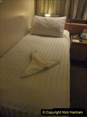 2012-05-13 to 20 Norway Cruise. On board towel folding. food & crew good bye.  (4)077