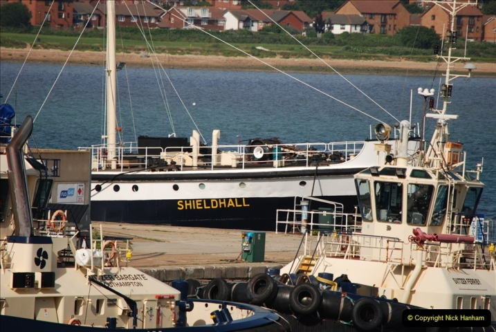2019 June 28 to 05 July P&O MV Oriana France, Spain and Guernsey. (129) On the way. The steam powered Shieldhall. 129