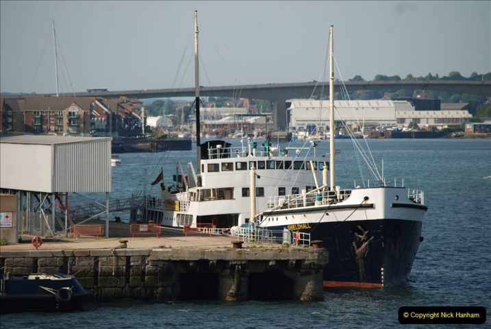 2019 June 28 to 05 July P&O MV Oriana France, Spain and Guernsey. (130) On the way. The steam powered Shieldhall. 130