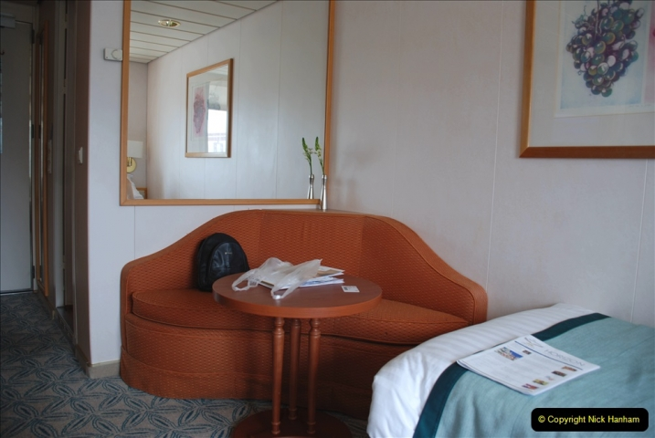 2019 June 28 to 05 July P&O MV Oriana France, Spain and Guernsey. (25) Our cabin. 025