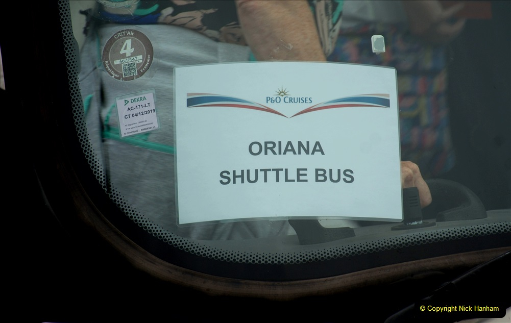 2019 June 28 to 05 July P&O MV Oriana France, Spain and Guernsey. (32) La Rochelle, France. Shuttle to town. 032