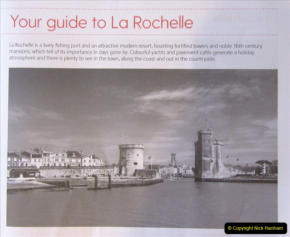 2019 June 28 to 05 July P&O MV Oriana France, Spain and Guernsey. (4) La Rochelle, France. 004