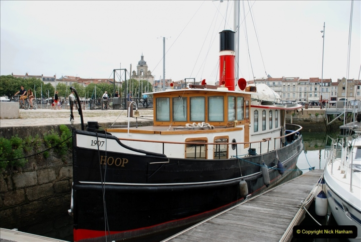 2019 June 28 to 05 July P&O MV Oriana France, Spain and Guernsey. (73) La Rochelle, France. Steam powered boat. 073