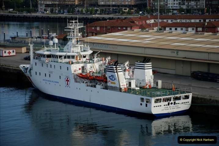 2019 June 28 to 05 July P&O MV Oriana France, Spain and Guernsey. (31) Santander, Spain. 031