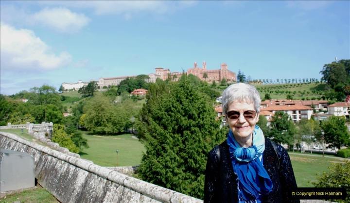2019 June 28 to 05 July P&O MV Oriana France, Spain and Guernsey. (68) Santander, Spain. Comillas. Your Host's Wife.068