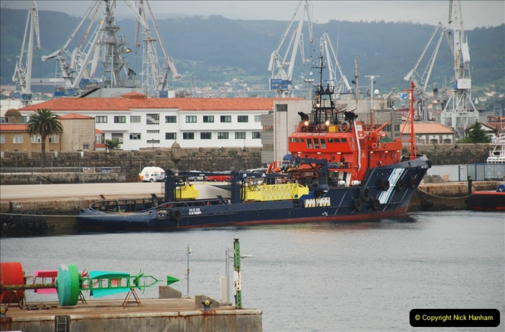 2019 June 28 to 05 July P&P MV Orian France, Spain and Guernsey. (17) Ferrol, Spain. 017