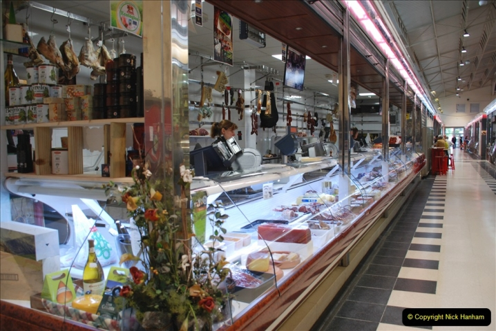 2019 June 28 to 05 July P&P MV Orian France, Spain and Guernsey. (190) Ferrol, Spain. Market and meat market. 190