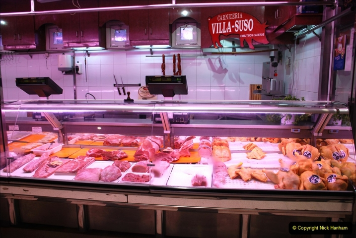 2019 June 28 to 05 July P&P MV Orian France, Spain and Guernsey. (207) Ferrol, Spain. Market and meat market. 207