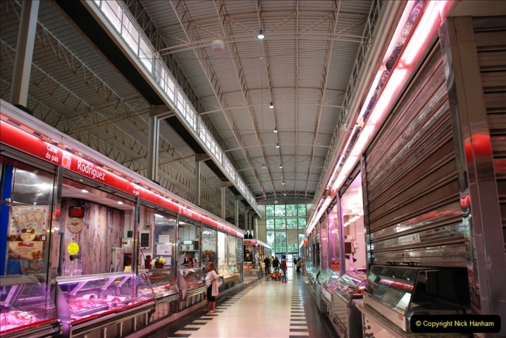 2019 June 28 to 05 July P&P MV Orian France, Spain and Guernsey. (208) Ferrol, Spain. Market and meat market. 208