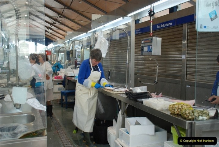 2019 June 28 to 05 July P&P MV Orian France, Spain and Guernsey. (211) Ferrol, Spain. The fish market. 211