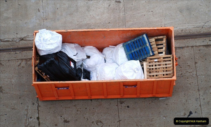 2019 June 28 to 05 July P&P MV Orian France, Spain and Guernsey. (262) Ferrol, Spain. Our rubbish.262