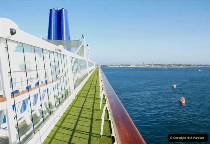 2019 June 28 to 05 July P&O MV Oriana France, Spain and Guernsey. (21) Guernsey CI. Tendering ashore. 021