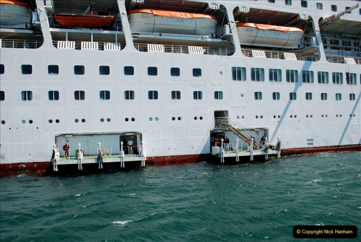 2019 June 28 to 05 July P&O MV Oriana France, Spain and Guernsey. (213) Guernsey CI. Tender back to our ship. 213