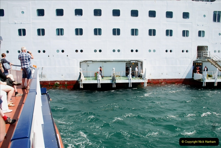 2019 June 28 to 05 July P&O MV Oriana France, Spain and Guernsey. (215) Guernsey CI. Tender back to our ship. 215