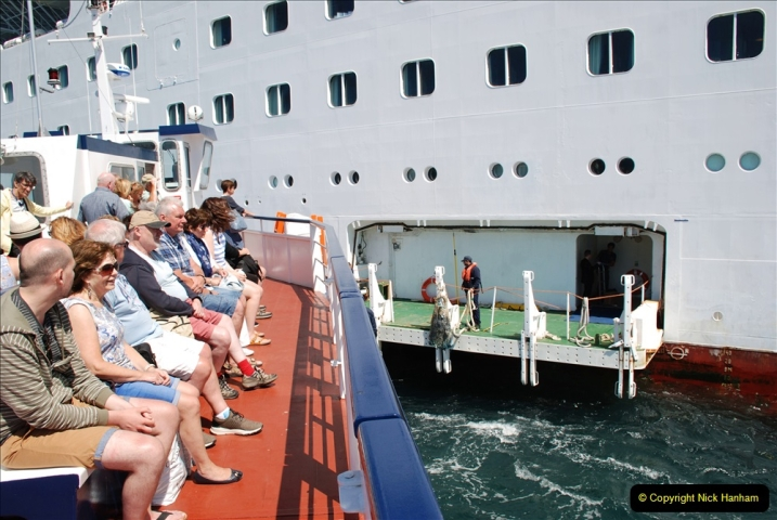 2019 June 28 to 05 July P&O MV Oriana France, Spain and Guernsey. (217) Guernsey CI. Tender back to our ship. 217