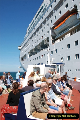 2019 June 28 to 05 July P&O MV Oriana France, Spain and Guernsey. (218) Guernsey CI. Tender back to our ship. 218