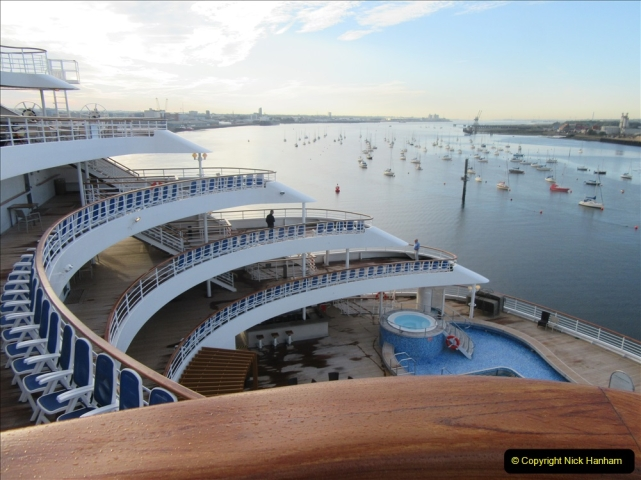 2019 June 28 to 05 July P&O MV Oriana France, Spain and Guernsey. (239) Guernsey CI. Back in Southampton. 239
