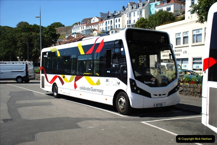 2019 June 28 to 05 July P&O MV Oriana France, Spain and Guernsey. (38) Guernsey CI. Round the island costal bus ride. 038