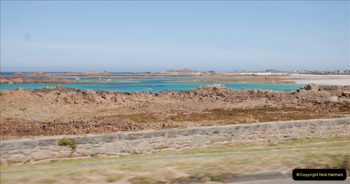 2019 June 28 to 05 July P&O MV Oriana France, Spain and Guernsey. (82) Guernsey CI. Round the island costal bus ride. 082
