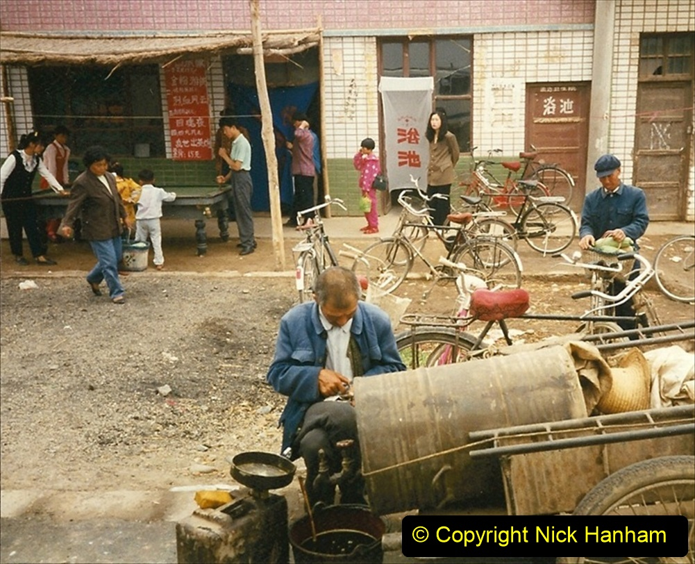 Pakistan and China 1996 June. (128) Zhongwei with replica of Tienanmen Square. 126