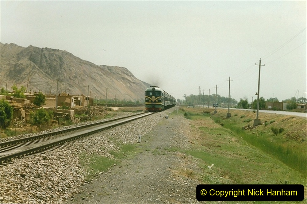 Pakistan and China 1996 June. (131) Linesiding on the way to Baotou and local village. 130