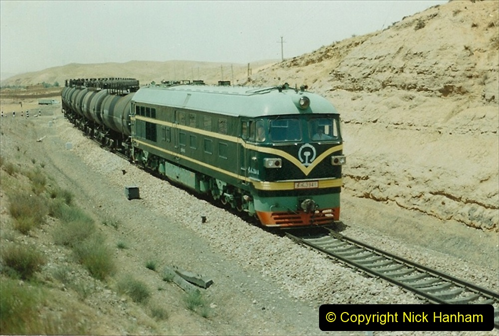 Pakistan and China 1996 June. (149) Linesiding on the way to Baotou and local village. 149