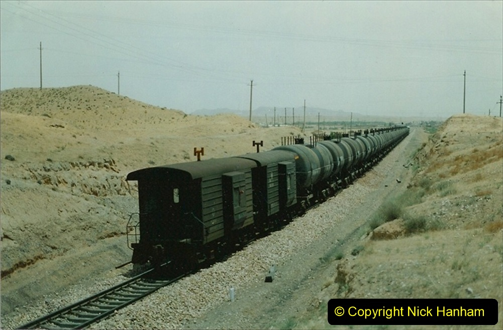Pakistan and China 1996 June. (151) Linesiding on the way to Baotou and local village. 151