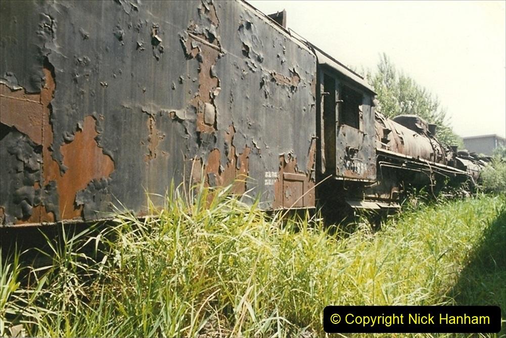 Pakistan and China 1996 June. (164) Baotou China Rail Depot. The Depot Museum. 164