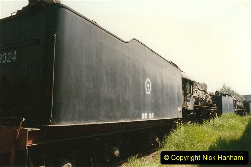 Pakistan and China 1996 June. (168) Baotou China Rail Depot. The Depot Museum. 168