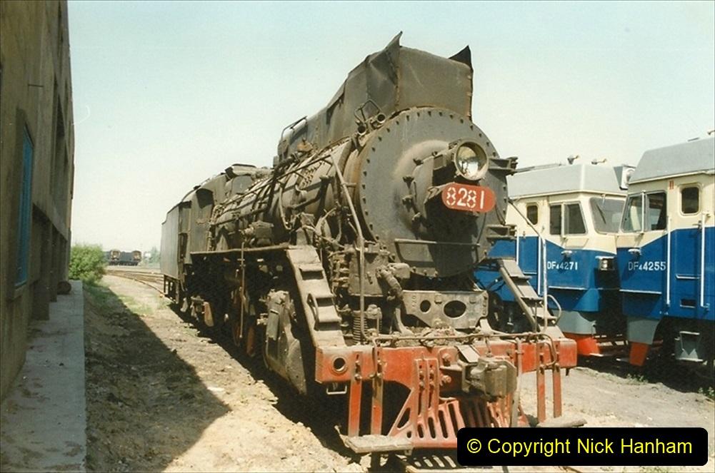 Pakistan and China 1996 June. (184) Baotou China Rail Depot. 184