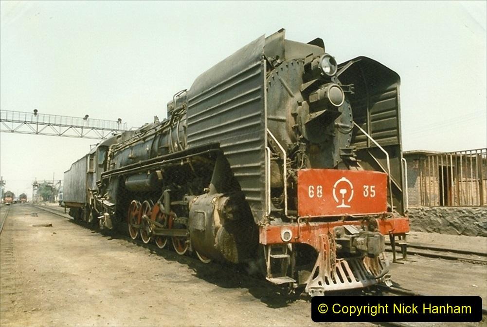 Pakistan and China 1996 June. (196) Baotou China Rail Depot. 196