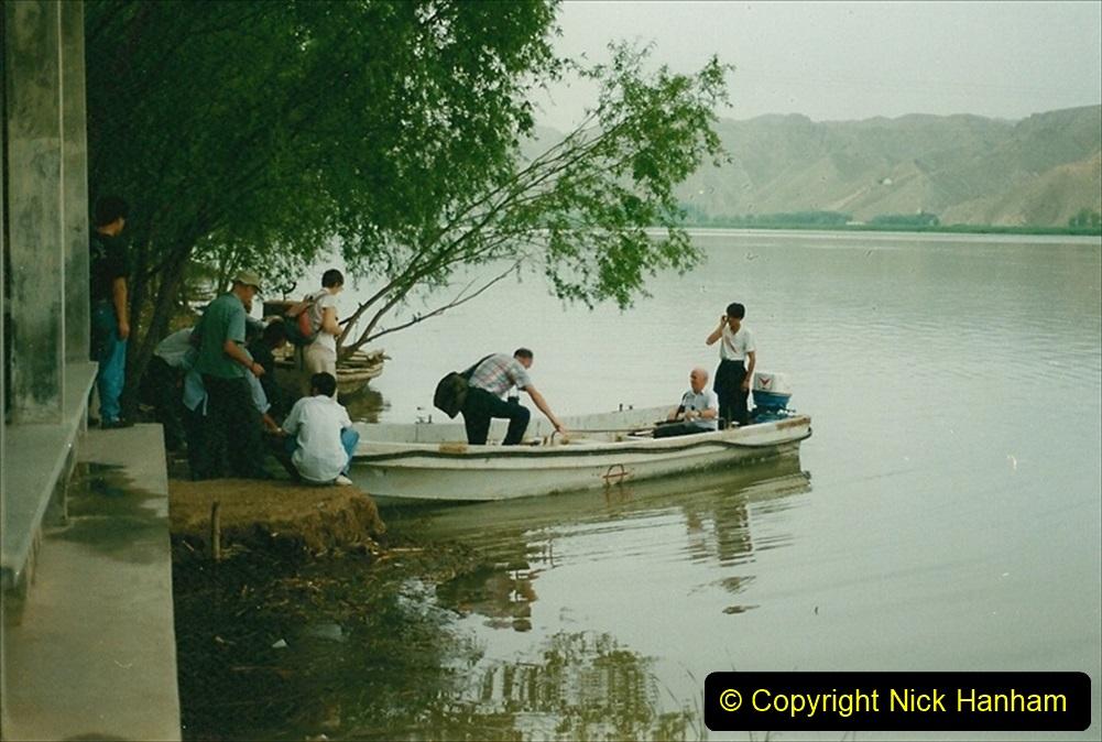Pakistan and China 1996 June. (2) Visit to the 108 Pagodas at Quingtongxia.  002