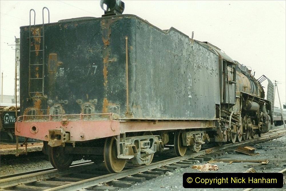 Pakistan and China 1996 June. (22) Zhongwei China Rail Depot. 022