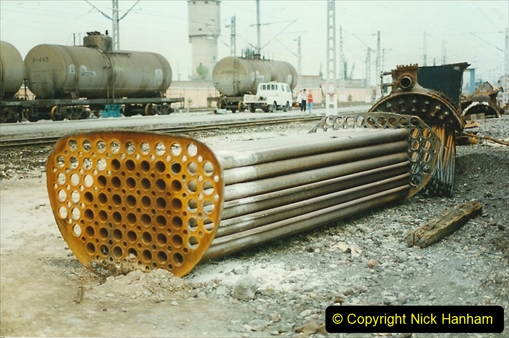 Pakistan and China 1996 June. (25) Zhongwei China Rail Depot. 025