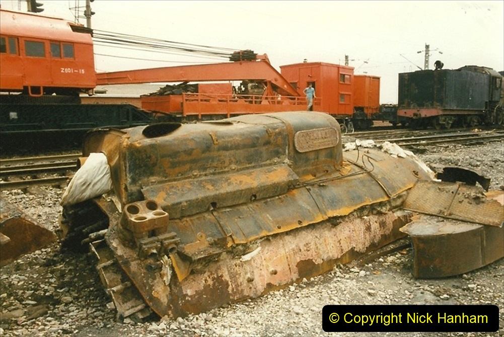 Pakistan and China 1996 June. (27) Zhongwei China Rail Depot. 027