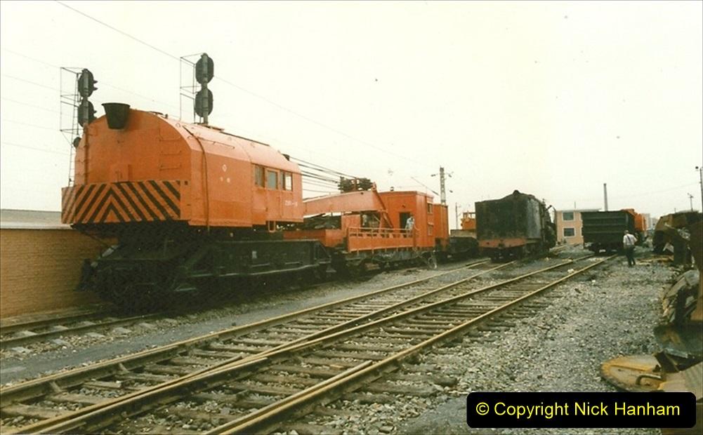 Pakistan and China 1996 June. (28) Zhongwei China Rail Depot. 028