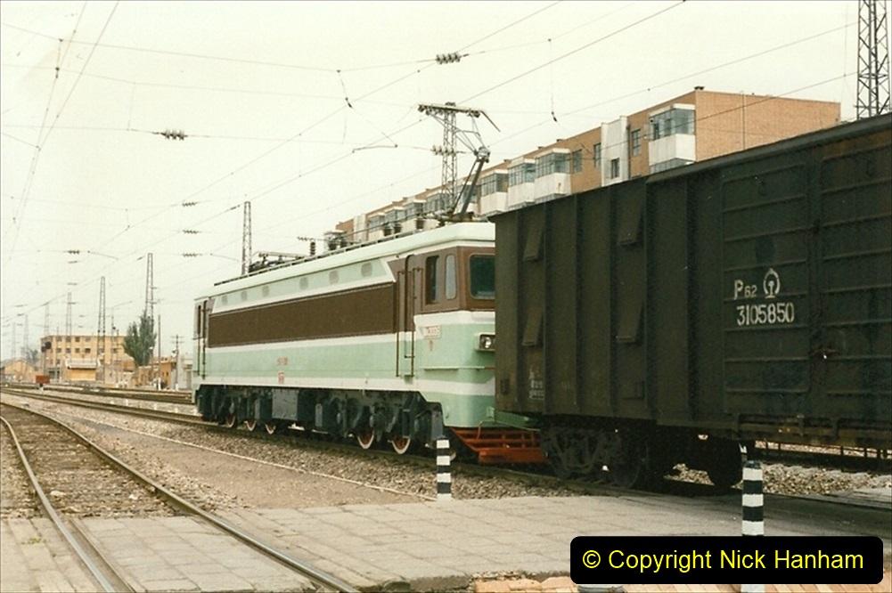 Pakistan and China 1996 June. (31) Zhongwei China Rail Depot. 031
