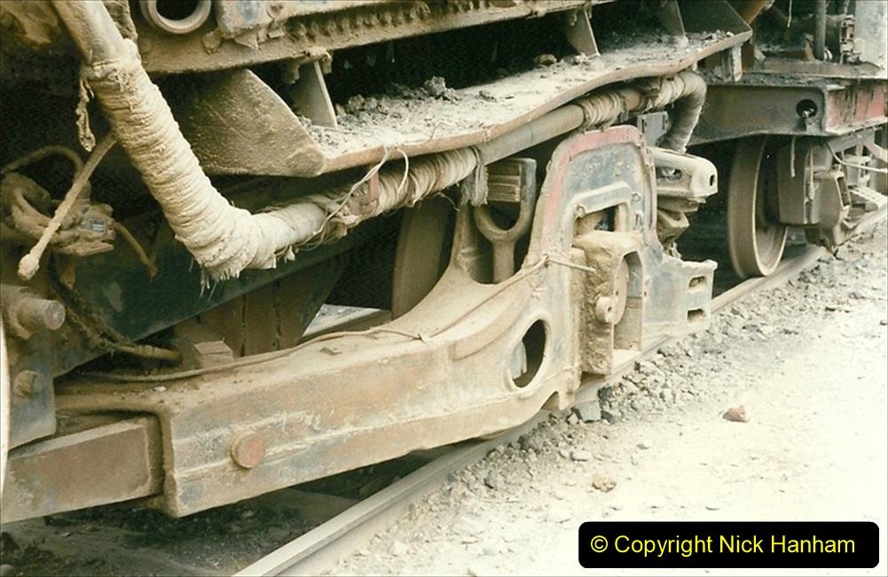 Pakistan and China 1996 June. (40) Zhongwei China Rail Depot. No more steam on the big hill. 040