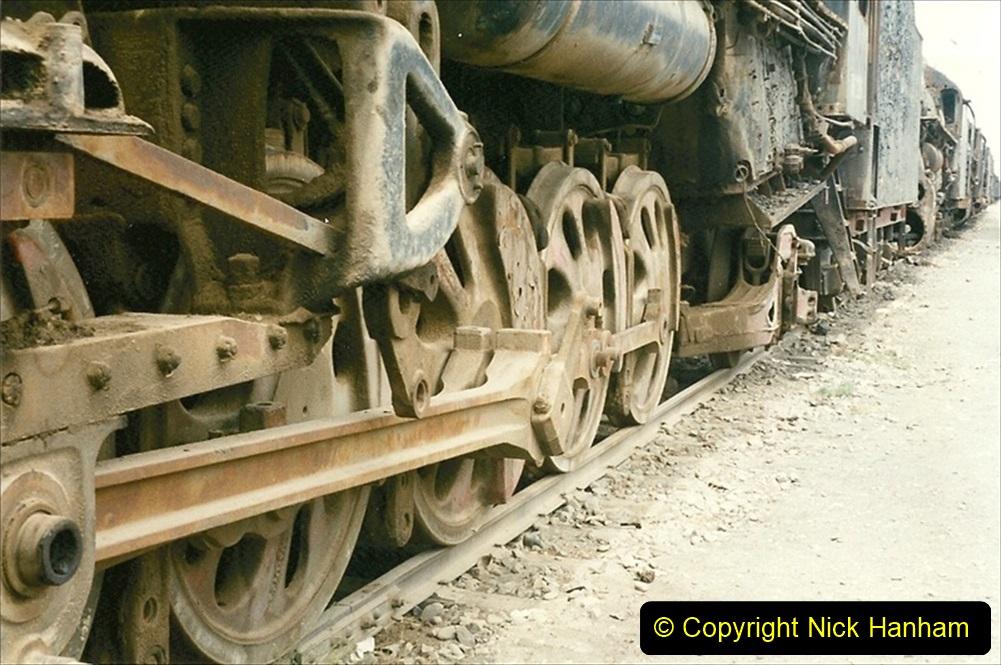 Pakistan and China 1996 June. (41) Zhongwei China Rail Depot. No more steam on the big hill. 041