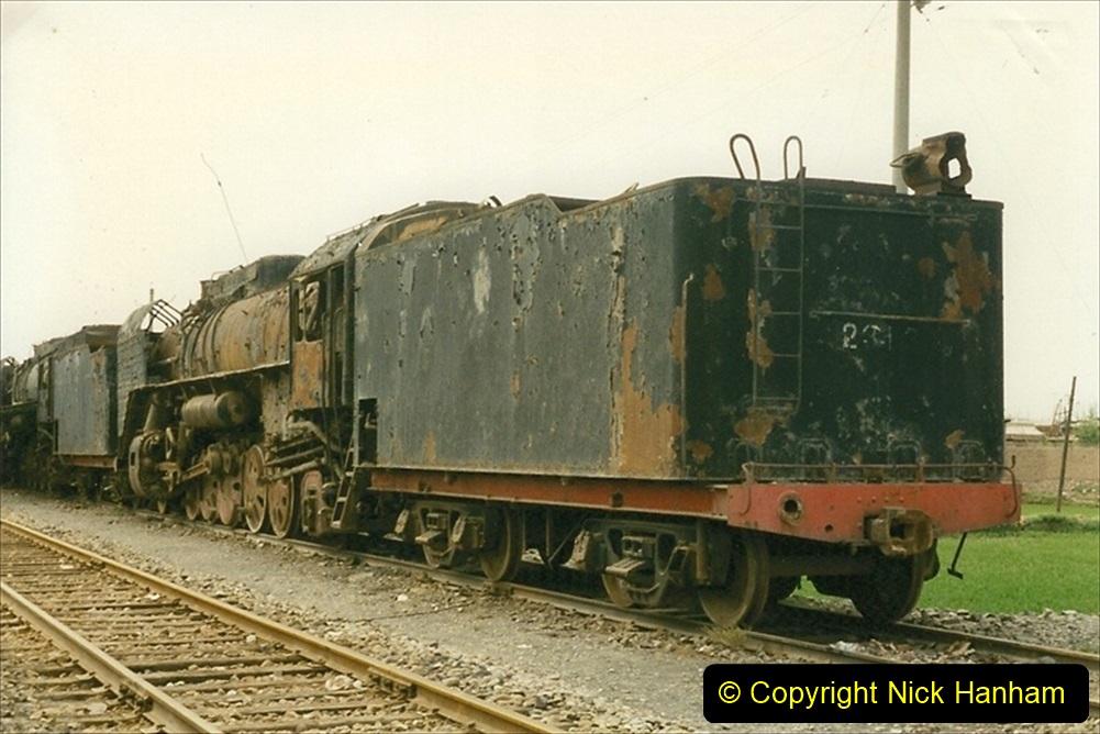 Pakistan and China 1996 June. (43) Zhongwei China Rail Depot. No more steam on the big hill. 043